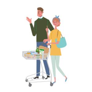 スーパー買い物イメージ画像