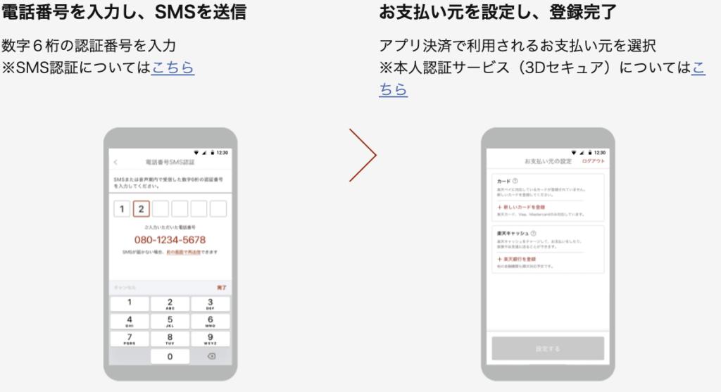 モバイルSuicaを楽天ペイアプリに新規登録する手順1