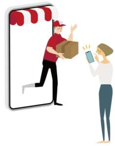 オンラインショッピング画像