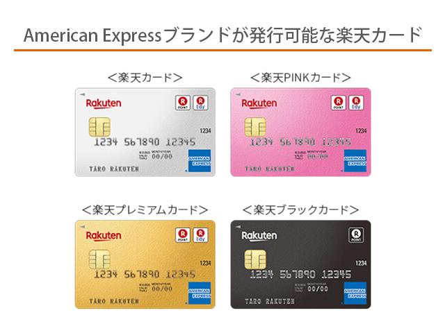 楽天カード発行できるブランド一覧画像