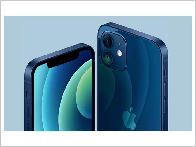 iPhone12 素材とカラー紹介のイメージ画像