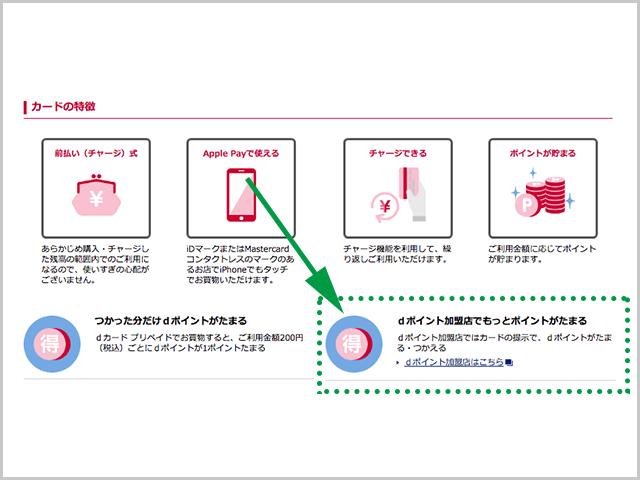 dカードプリペイド特徴の紹介画像