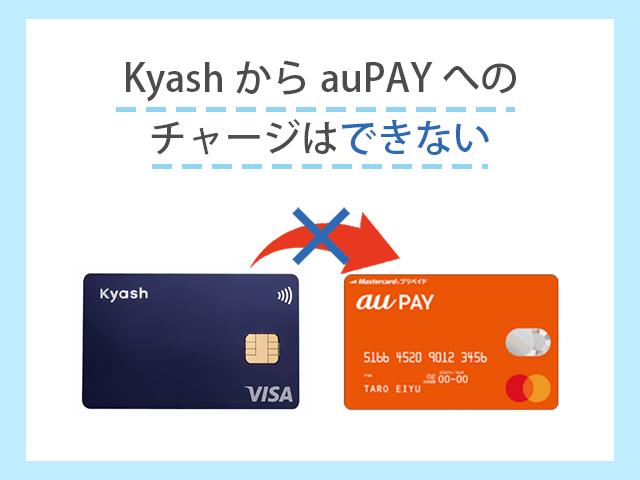 Kyashからau PAYプリペイドカードはチャージ不可 イメージ画像