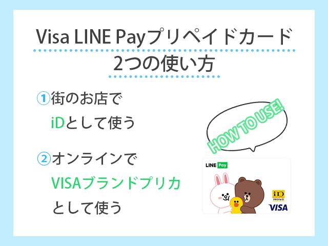 Visa LINE Payプリペイドカードのポイント還元率は?iD・Apple Pay登録