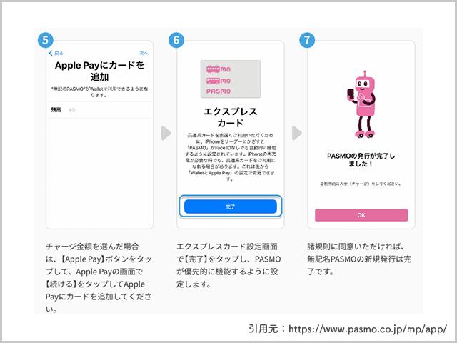 無記名式PASMO発行手順から登録完了までの画像
