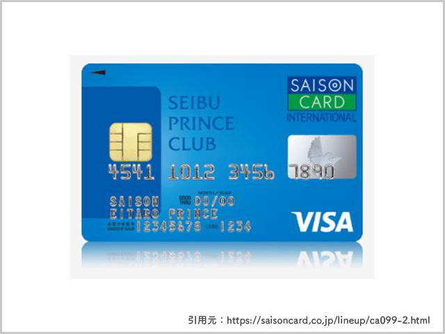 SEIBU PRINCE CLUBカード セゾンの画像