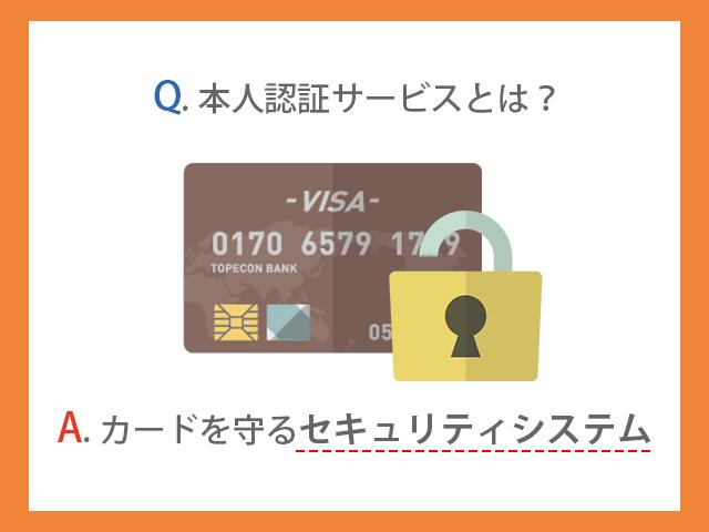 本人認証サービス(3Dセキュア)とはカードを守るセキュリティシステム イメージ画像
