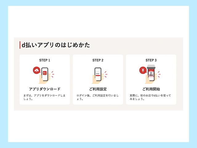 d払いアプリ 利用開始の操作手順