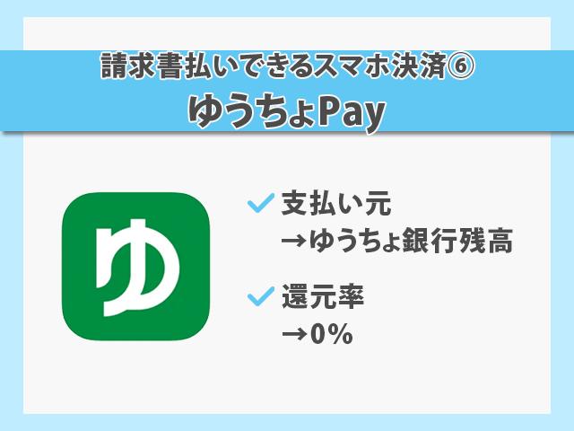 請求書払いできるスマホ決済 ゆうちょPay 紹介画像