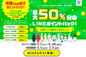 ユニリーバ製品キャンペーン画像