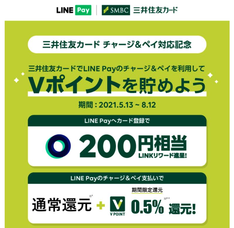 【三井住友カード】LINE Payへカード登録キャンペーン