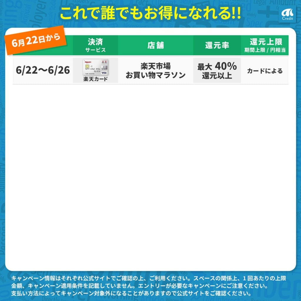 AI-Creditお得カレンダー6