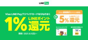 Visa LINE Payプリペイドカードキャンペーン画像