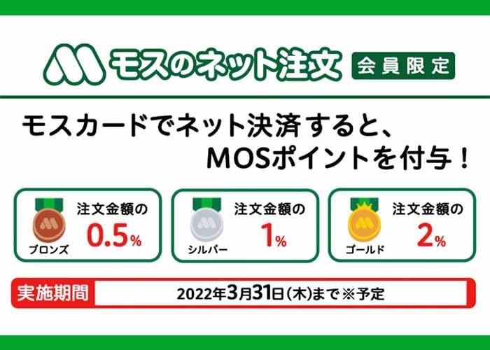 モスバーガー公式アプリ MOSポイントのランク一覧 紹介画像